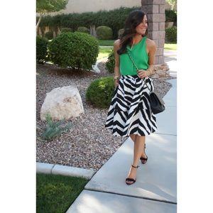 EXPRESS Zebra-Print Midi Skirt   Sz 4